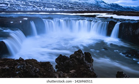Godafoss famous northern Icelandic Waterfall
