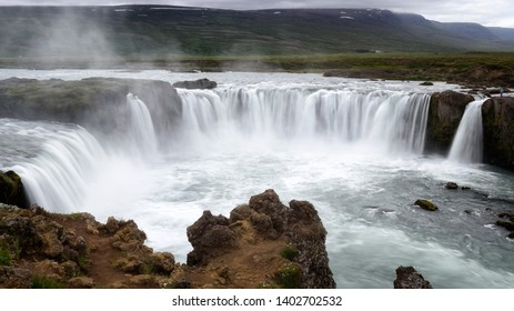 """Godafoss (from the Icelandic: """"waterfall of the gods"""") is one of the most famous and spectacular waterfalls in Iceland, located in the north of the island"""