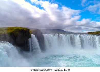 Godafoss , Icelandic waterfall. located on the North of the island