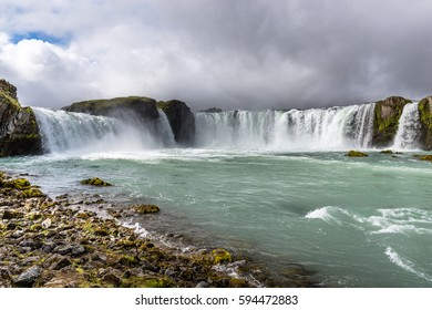 The Godafoss - one of the most spectacular waterfalls in Iceland, Bardardalur district of North-Central Iceland, beginning of Sprengisandur highland road