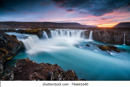 Godafoss at Twilight, Iceland