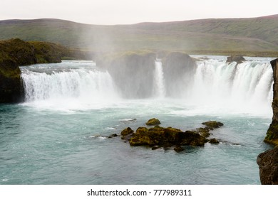 Godafoss (waterfall of the gods)  in the Bardardalur district of Northeastern Region of Iceland