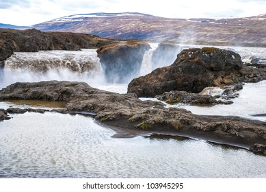 Godafoss - Waterfall of the Gods in Iceland.