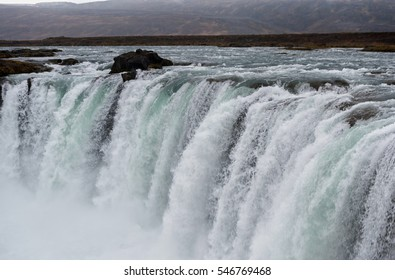 Godafoss Waterfall in Iceland.