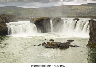 Godafoss waterfall. It is one of the most spectacular waterfalls in Iceland.