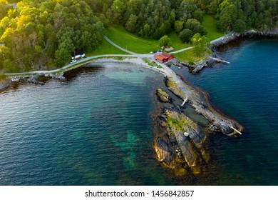 Godalen beach in eastern Stavanger. A popular bathing spot