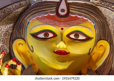 Goddess Durga close up face view