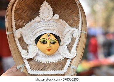 Goddess Durga portrait , Durga puja is the biggest festival for Bengalis celebrated globally