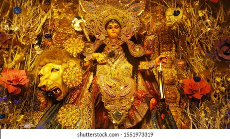 Goddess Jagaddhatri or Jagatdhatri or Jagadhatri. Jagaddhatri is an aspect of theHindu goddessDurga,  who is particularly worshipped in theIndian statesofWest BengalandOdisha.