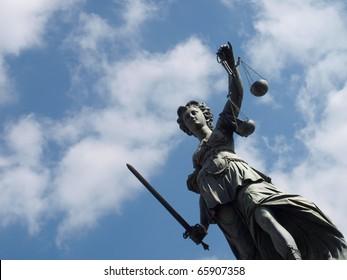 Goddess of justice at Frankfurt Roemer
