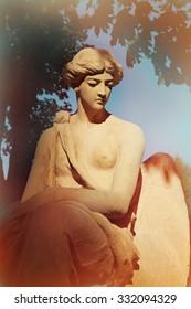 goddess of love Aphrodite (Venus) resting on Mount Olympus (statue fragment)