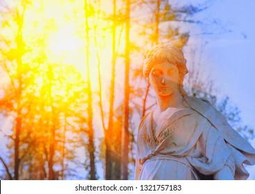 The goddess of love in Greek mythology, Aphrodite (Venus in Roman mythology) in sunlight