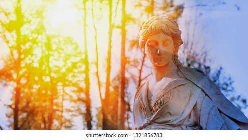 The goddess of love in Greek mythology, Aphrodite (Venus in Roman mythology) in sunlight
