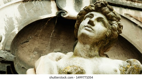 Goddess of love in Greek mythology, Aphrodite (Venus in Roman mythology) Fragment of ancient statue.