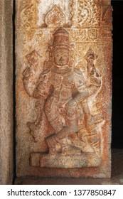 Godess Carving on Stone at City Palace,Udaipur,Rajasthan,India,Asia on 20th November2018