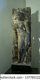 Godess Partalekha Sursundari carvings on Stone at City Palace,Udaipur,Rajasthan,India,Asia on 20th November2018