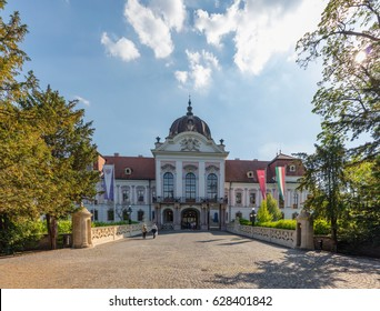 GODOLLO - MAY 21: The Royal Palace in Godollo, Hungary, on May 21, 2016. The palace was the favorite summer home of Habsburg princess Elizabeth and her husband, Franz Joseph.