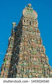 Gods on Meenakshi Temple or Minakshi-Sundareshwara Temple, Madurai, Tamil Nadu - South India ( Hindu's word means name of temple )