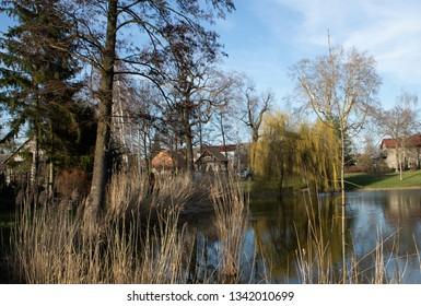 Godzieszowa, Dolnośląskie, Polska.  Park in the village of Godzieszowa