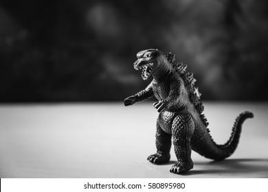 Godzilla toys.