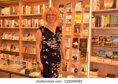 goerlitz saxonia germany may 31 2018: nina george author bestseller