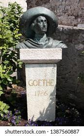 Goethe Memorial, Scaliger Castle, Lake Garda, Italy, 04.15.2013