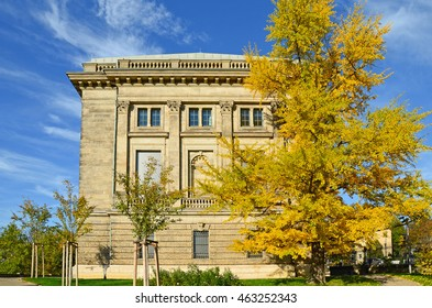 Goethe and Schiller Archive with Ginkgo tree in Weimar, Thuringia Germany