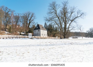 Goethe's garden house in Winter, Weimar - Germany