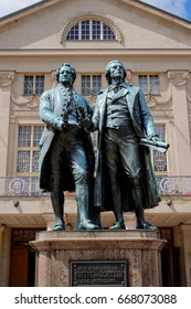 Goethe-Schiller-Monument in Weimar/Germany