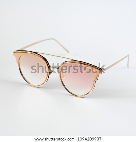 a58ee63f35b3 goggles for girls. good sunglasses for women. designer accessory on a white  background.