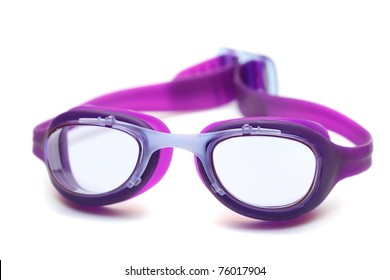 goggles glasses for swim on white background