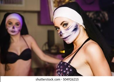 Go-go dancer in Halloween night