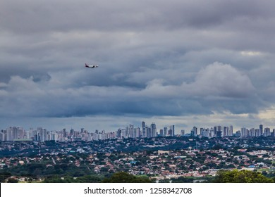 GOIANIA, BRAZIL - DECEMBER 02, 2018:Millions of people are living in this Brazilian city located in the center of the country. On December 2018, Goiania, Brazil.
