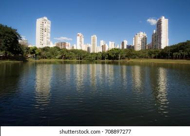 GOIANIA, BRAZIL - JUNE 09, 2016: Park in Goiania city. On June 09, 2016, Goiania, Brazil.