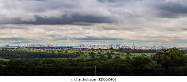 GOIANIA, BRAZIL - NOVEMBER 11, 2018:Millions of people are living in this Brazilian city located in the center of the country. On November 2018, Goiania, Brazil.