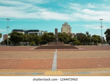 Goiania, goias/brazil - November 25, 2018: The spring at Bandeirantes square in Goiania, Brazil