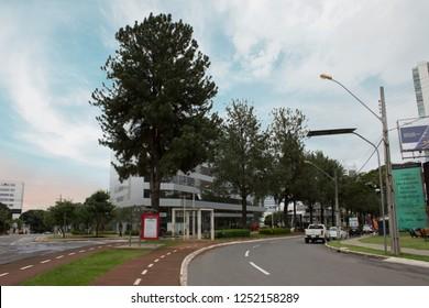 Goiania/goias/brazil - December 2 2018 2018: Noble Ricardo Paranhos street in Goiania city