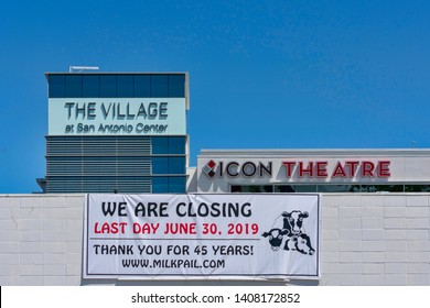 Going out of business sign of Milk Pail Market. The European style mom-and-pop open air market served customers in Silicon Valley for 45 years - Mountain View, California, USA  - May 25, 2019