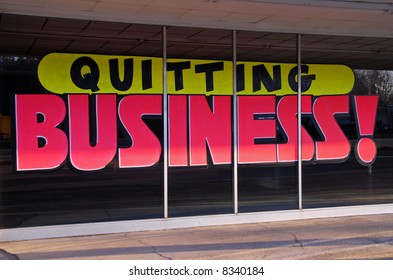 Going out of Business Sign - Quitting Business