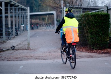 Going to school with safety vest