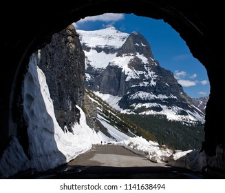 Going to the Sun Mountain from the East Tunnel of the Going to the Sun Road, Glacier National Park