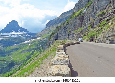 Going to the Sun Road - A view from the tunnel area found on the `Going to the Sun` road in Glacier National Park