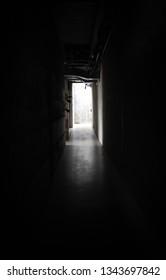 going towards the light in darkroom