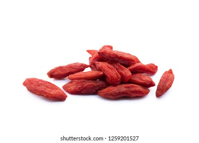 Goji berry isolated on white background