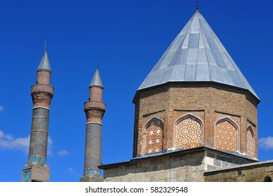 Gok Medrese in Sivas City, Turkey. The structure has the biggest portal among the other theological schools in Anatolia. It is a 13th-century medrese, an Islamic educational institution, in Sivas.
