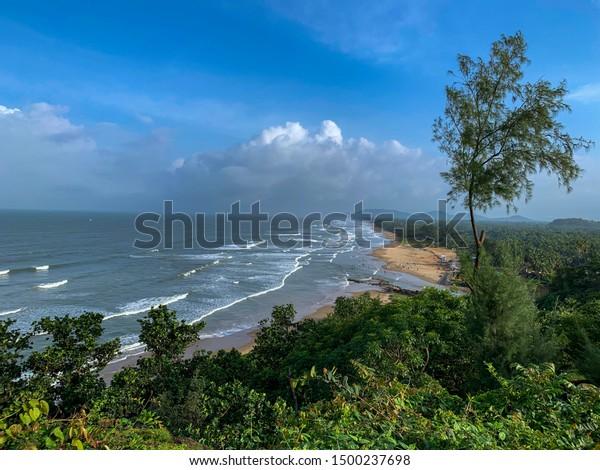 Gokarna Beach located on Western Coast in India