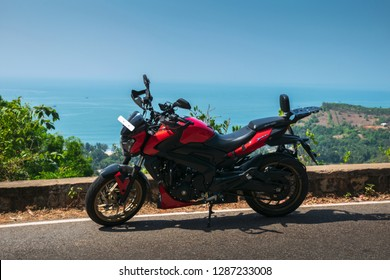 Gokarna- December 23: Bajaj Dominar 400 spoted at OM beach on December 23, 2019, Gokarna, Karnataka, India