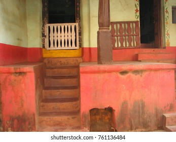Gokarna India. streets of the old Indian city