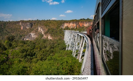 Gokteik Viaduct, at 318ft high and 2257ft across, the second-highest railway  bridge in the world, Myanmar