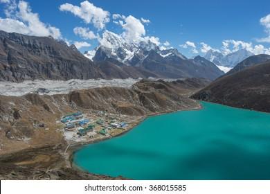 Gokyo lake and Gokyo valley,Everest region Nepal